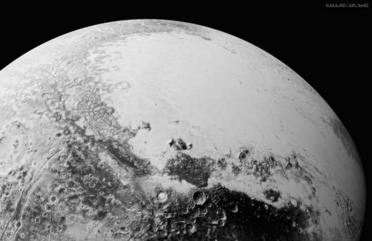 Imagen de Plutón, tomada desde el exterior de Sistema Solar por la nave robótica New Horizons. NASA.