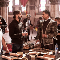 El director Riccardo Gabrielli y el actor Marlon Moreno, ambos colombianos.